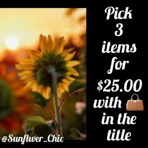 3 items w/👜 in title for $25 🌻